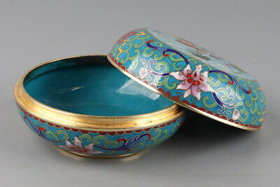 Chinese Exquisite Handmade copper Cloisonne box
