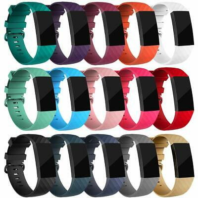 For Fitbit Charge 3 Strap Sports Wrist Band Silicone Replacement Small Large UK