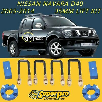 Super Pro TRC141LK Nissan Navara D40 2005 - 2014 35mm Suspension Lift Kit