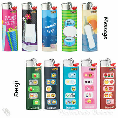 Bic Maxi J26 Lighter with Flint Emoji or Message Special Limited Edition