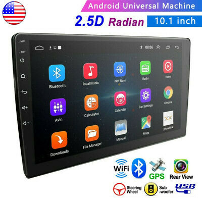 "10.1"" Android8.1 Car Stereo GPS Navi MP5 Player Double 2Din WiFi Quad Core Radio"