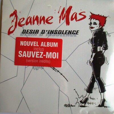 "Jeanne Mas - Cd Single ""Désir D'insolence"" - Version Radio - Neuf Sous Blister"