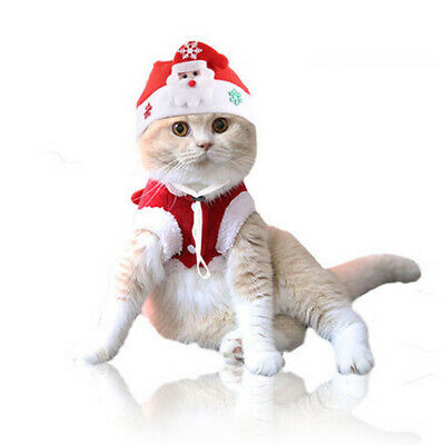 Cute Christmas Pet Dog Cat Hat Fancy Dress Up Puppy Party Cosplay Costume Decor