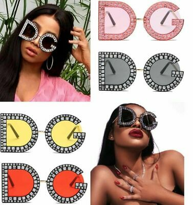 D STYLE Oversized Square Sunglasses Women Metal Frame Fashion Luxury Frame shade