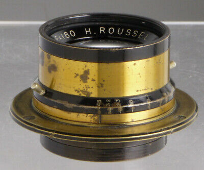 Roussel Stylor, antique French lens f/Wood & Brass Plate cameras_collodion_Paris