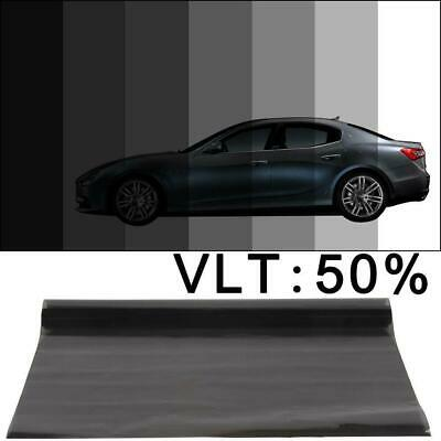 VLT 15% Black Glass Window Tint Shade Film Roll Auto Car House 0.5x3M
