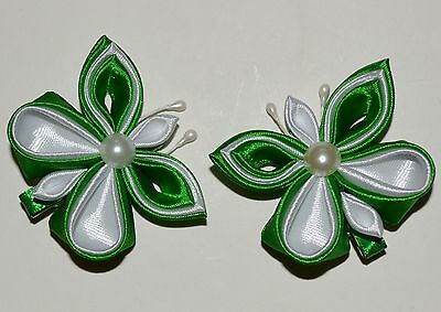 Pair of Handmade Girl's/Baby Butterfly Hair Clips,Kanzashi
