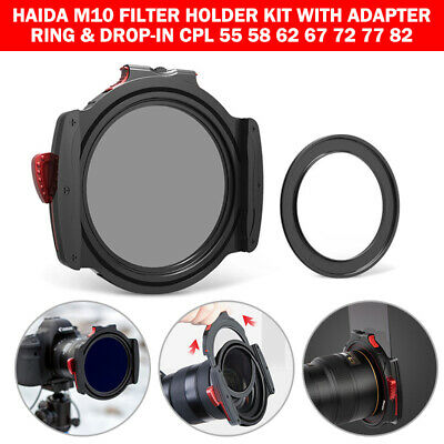 Haida M10 Filter Holder Kit with Adapter Ring & Drop-in CPL 55 58 62 67 72 77 82