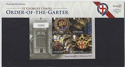 Great Britain 2017 Stampex Limited Edition Presentation Pack N0.1000