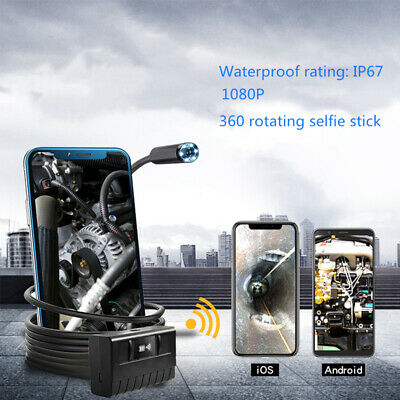 1080P HD Waterproof WiFi Endoscope Auto Repair Inspector Camera for Android iOS