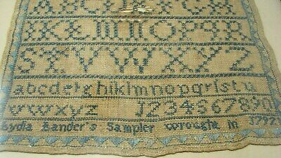 Antique 1792 Lydia Lander Salem Mass Born 1781 Framed Sampler