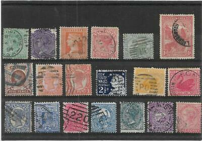 Old British Empire Australian States Queen Victoria On-Wards Used Collection