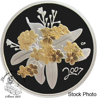 Canada 2007 50 Cents Golden Forget-Me-Not Silver Coin