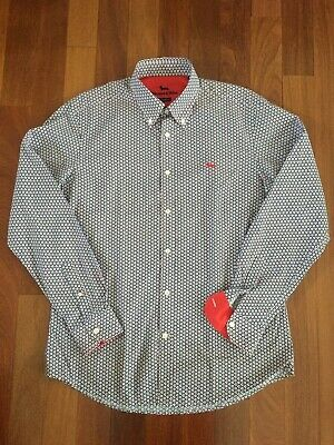 Harmont /& Blaine Shirt Narrow Fit red dots,red buttons dark orange dachshund
