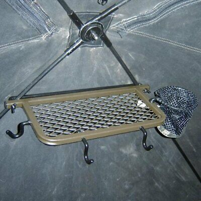 HME Deer/Turkey Hunting Ground Blind Accessory Shelf w/ Drink Holder & Hooks