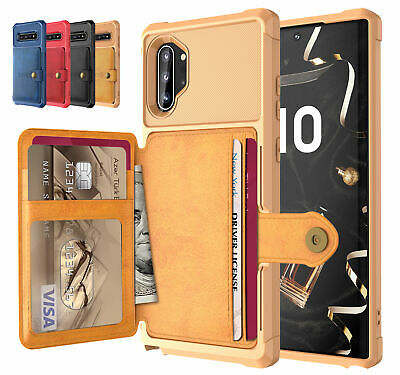 Samsung Galaxy S9 S10 S10+ Plus S10e Note10 9 5G Case, Leather Wallet Card Cover