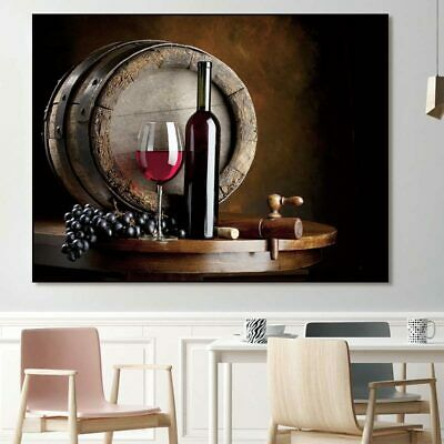 Red Wine Grape Cup Home Living Room Decoration Poster Painting Canvas Frameless