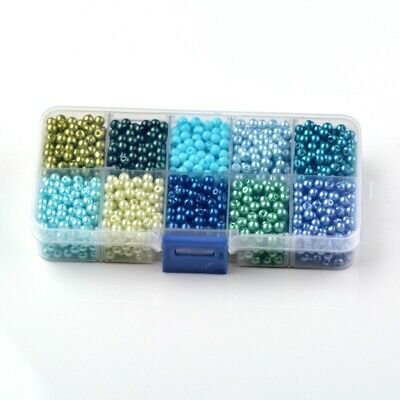 6mm Mixed Pearlized Round Glass Pearl Beads Mixed Color for Jewelry Making