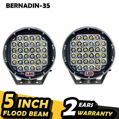 2pcs 96W Round Cree LED Driving Spot Lights UTE TRUCK SUV ATV OffRoad 9inch