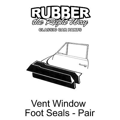 1950 1951 50 51 FORD LATE CONVERTABLE 2-D  VENT WINDOW SEALS 2 PIECE VICTORIA