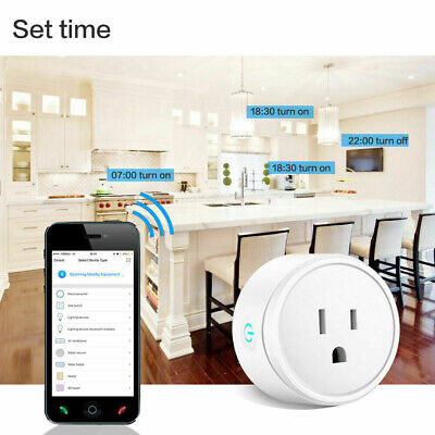 Smart Power Socket Wifi Switch Remote Control Timer Outlet US Plug 10A 1100W