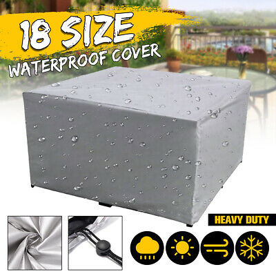 7 Size LARGE Waterproof Furniture Cover Table Chair Garden Patio Cube Outdoor