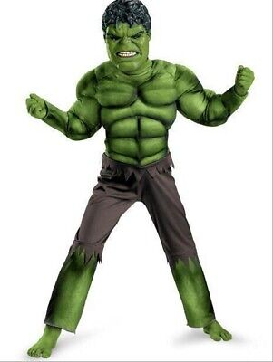 Deluxe Incredible Hulk Age 3-8 Boys Fancy Dress Kids Marvel Avengers Costume UK
