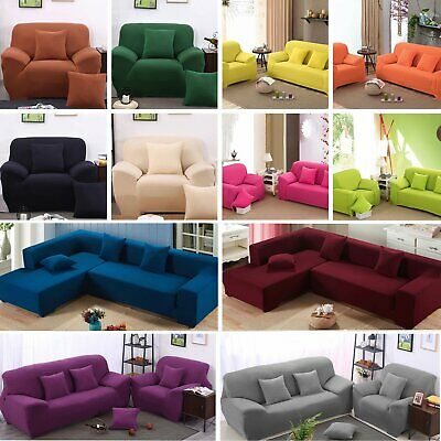 Stretch Chair Sofa Covers 1234 Seater Couch Full Cover Protector Slipcover Decor