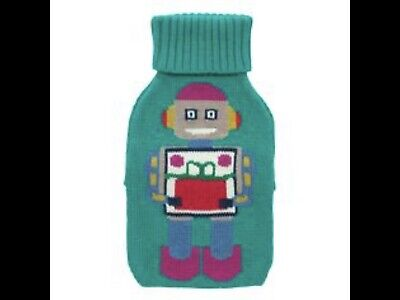 Cath Kidston Rare Knitted Robots Hot Water Bottle - Brand New