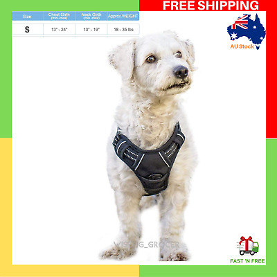 NEW Rabbitgoo Dog Harness No-Pull Adjustable Outdoor Pet Vest Small Size Black