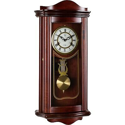 Wall Clock Pendulum Regulator Antique Mechanical Mahagoni Wood Watch Prometheus
