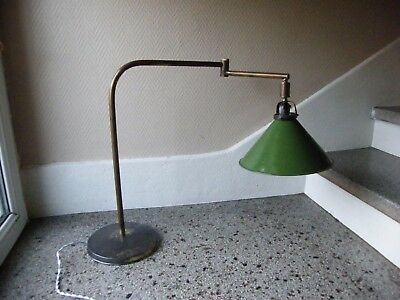 Lamp Workshop Brass Lampshade Day Sheet Metal Enamelled 2 Arm 2 Joints Years 30