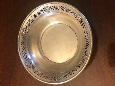 Vintage B&M Sterling Silver Pierced Reticulated Crest Bowl or Candy Dish 97.8g