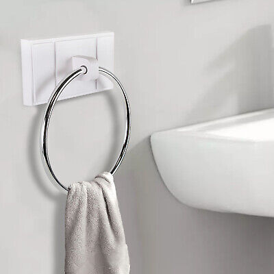 Croydex Towel Ring 5,5 x 15,7 cm Chrome Flexi-Fix Chester QM441541