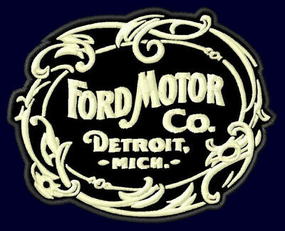 "FORD MOTOR CO. EMBROIDERED PATCH ~3-5/8""x 2-7/8"" MODEL T PICK UP V8 F150 VINTAGE"