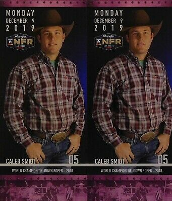 (2) National Finals Rodeo Tickets NFR Low Balcony Mon Dec 9th 12/09/2019 Aisle