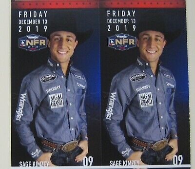 (2) National Finals Rodeo Tickets NFR Low Balcony Fri Dec 13th 12/13/2019 Aisle