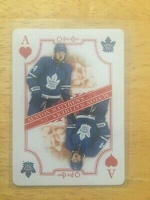 2019-20 O-PEE-CHEE Playing Card Ace of Hearts Auston Matthews