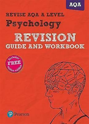 Revise Aqa A Level 2015 Psychology Revision Guide And Workbook, Like New Used...