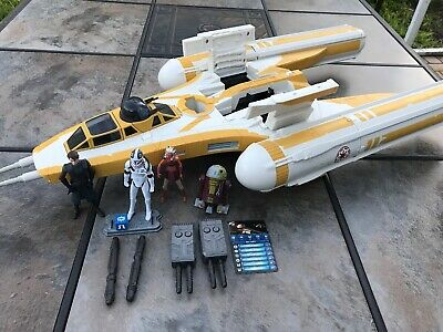 Star Wars The Clone Wars Rebel Y-Wing Complete With Crew Matchstick Anakin Droid