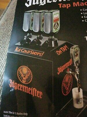 Jagermeister liquor bar Tap Machine 3 Bottle Shot Dispenser Chiller Brand New