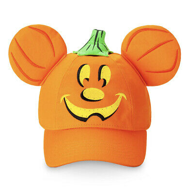Disney Parks Mickey Mouse Pumpkin Baseball Hat Cap NEW Halloween