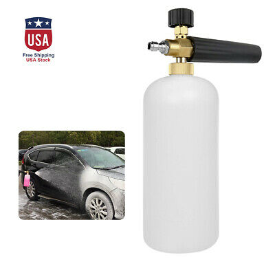 Foam Lance Snow Cannon Pressure Gun W/ Bottle Car Foamer Wash Quick Adapter Jet