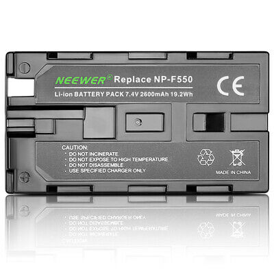 Neewer Rechargeable 2600mAh Li-ion Battery Pack Replacement for Sony NP-F550/570
