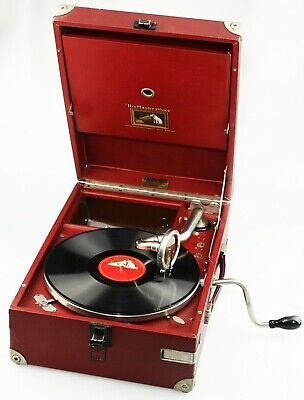 HMV His Master's Voice Model 101 Gramophone c.1929 in Red - Fully Working (AB43)