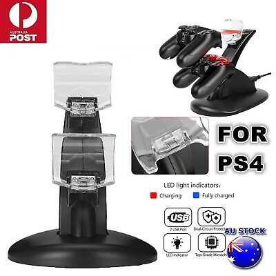 PlayStation PS4 Controller Dual USB LED Charger Fast Charging Stand Dock Station
