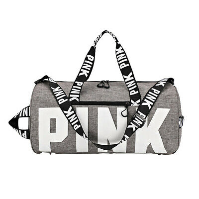 PINK Duffle Bag Yoga Holiday Gym Travel Weekend Top Women Travelling Nylon Bag
