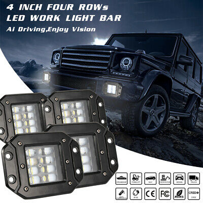 "LED Work Light Bar 4""/7""inch 400W Flood Spot Combo Beam Offroad Lamp 12V 24V SUV"