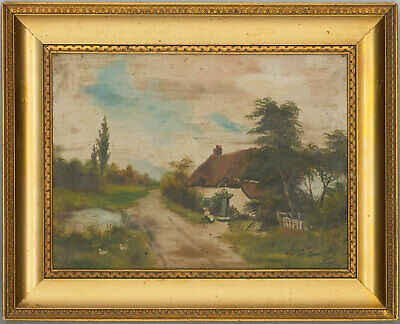 G. Bayly - Framed Early 20th Century Oil, A Rural Cottage