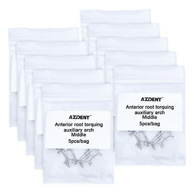 10X (50pcs) Dental Orthodontic Anterior Root Torquing Auxiliary Arch Middle Size